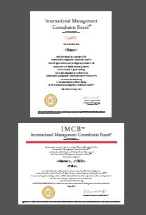 IMCB Sample Certification Management Consultant Certified